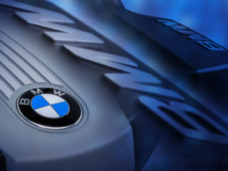 BMW Motorabdeckung